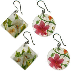 fairtrade alabaster earrings and pendants