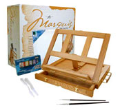 art supply marquis desk easel set