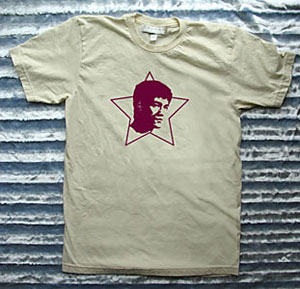 Mens organic tee shirt with bruce lee design