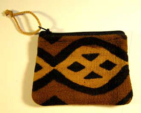 mudcloth coin purse created with fair trade standards