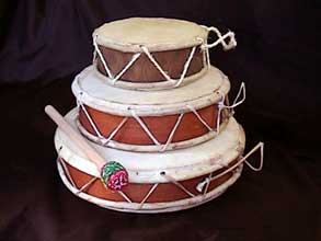 double sided skin drums made in Peru created with fair trade standards